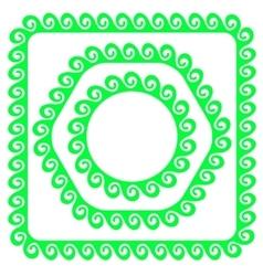 Green Frames vector image