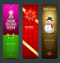 Happy New Year 2014 banner design collections vector image