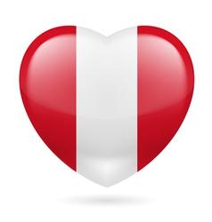 Heart icon of Peru vector