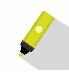 highlighter icon flat style vector image