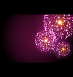 holiday festival pink firework independence day vector image