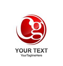 initial letter cg logo template colored red vector image