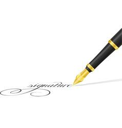 ink pen 02 vector image