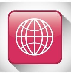Internet button icon Social media design vector