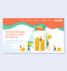 investment or capital growth landing web page vector image