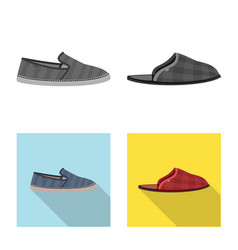 Isolated object of man and foot logo set of man vector