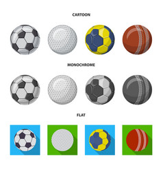 Isolated object of sport and ball logo collection vector