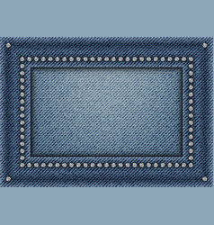 Jeans frame with sequins vector