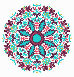 lace background beautiful mandala vector image