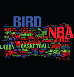 Larry legend text background word cloud concept vector