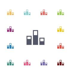 levels flat icons set vector image