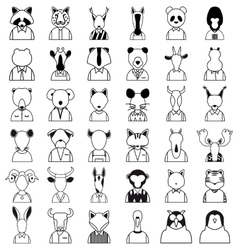 Line animals icon vector