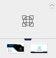 line art geometric logo template free business vector image