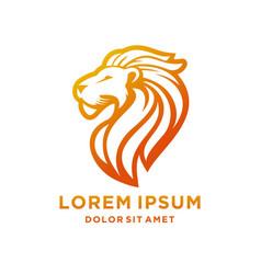 Lion luxury logo icon template vector