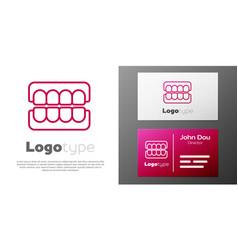 Logotype line false jaw icon isolated on white vector