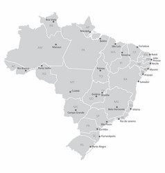 map brazil vector image