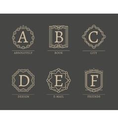 Monogram Logos vector