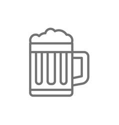 Mug beer pint glass line icon vector