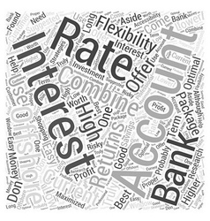 Offshore Banking Interest Rates Word Cloud Concept vector
