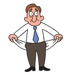 penniless businessman vector image