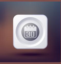 pure calendar button background vector image
