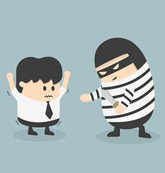 Robbing a businessman vector