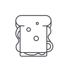 sandwich line icon concept sandwich linear vector image