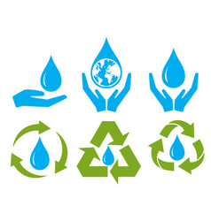 Save water sign symbol set vector