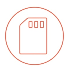Sim card line icon vector image