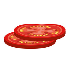 slices tomato isolated icon vector image