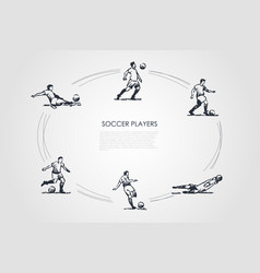 soccer players - male sportsmen in traditional vector image