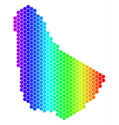 Spectrum hexagon barbados map vector