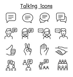 speech discussion speaking meeting hand language vector image