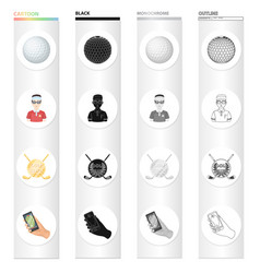 Sports putter ball and other web icon in vector