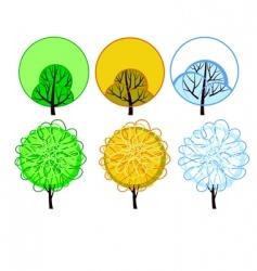 stylized seasonal tree vector image