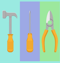 tools equipment icon set vector image