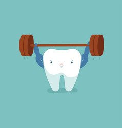 tooth workout for good healthy dental vector image