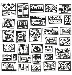 Travel - doodles vector