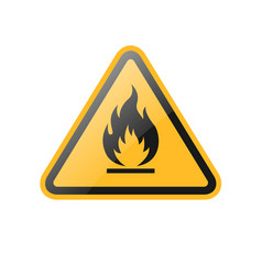 triangle fire warning sign vector image