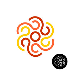 tribal sun or other abstract design element logo vector image