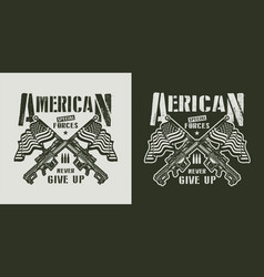 vintage american special forces emblem vector image