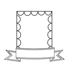 vintage frame icon vector image