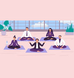 yoga office workers yoga vector image