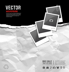 aper ripped on paper recycle crumpled for business vector image vector image