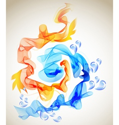 blue and red abstraction vector image vector image