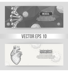 Creative concept Background of the human heart vector image