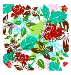 floral layers vector image
