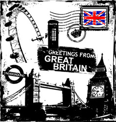 greetings from great britain vector image