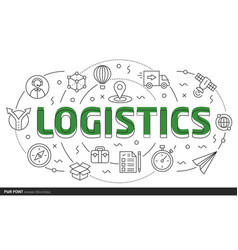 lines slides template logistics vector image vector image