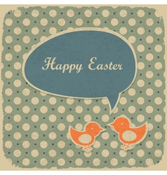 retro easter background vector image vector image